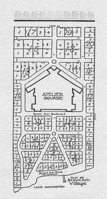 Early Map of Beaux Arts Village